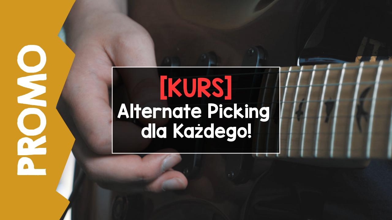Kurs naprzemiennego kostkowania na gitarze!